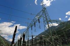 De elektropost van de elektrische centrale Stock Foto's