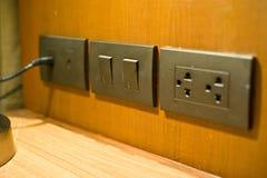 de elektrostop is de technologie voor voeding in huisgebruik 2 royalty-vrije stock foto