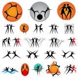 De element-actieve mensen van het ontwerp Stock Fotografie
