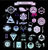 De elementen, de pictogrammen en de etiketten van de Hipsterstijl Royalty-vrije Stock Fotografie