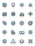 De elementen en de grafiek van het ontwerp Stock Foto