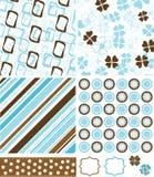 De elementen en de patronen van het plakboek voor ontwerp,   Royalty-vrije Stock Foto