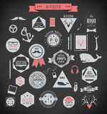 De elementen en de pictogrammen van de Hipsterstijl Stock Foto's
