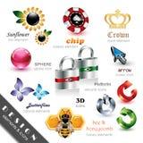 De Elementen en de Pictogrammen van het ontwerp Royalty-vrije Stock Fotografie