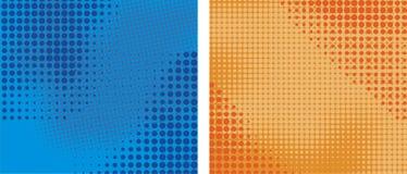 De elementen halftint van het Achtergrondpakontwerp Stock Afbeelding