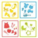 De elementen van de baby vector illustratie