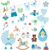 De Elementen van de babyjongen Royalty-vrije Stock Foto
