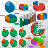 De elementen van de bedrijfsgegevensmarkt Stock Afbeelding