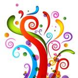 De Elementen van de Confettien van de viering Stock Afbeelding