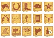 De elementen van de cowboy Royalty-vrije Stock Foto's