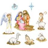 De Elementen van de geboorte van Christusscène Royalty-vrije Stock Foto