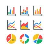 De elementen van de gegevensmarkt Stock Foto