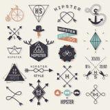 De elementen van de Hipsterstijl Stock Foto's