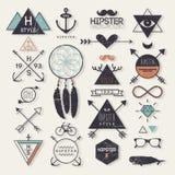 De elementen van de Hipsterstijl royalty-vrije illustratie