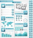 IT de Elementen van de Industrieinfographic Stock Fotografie