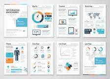 De elementen van de Infographicbrochure voor bedrijfsgegevensvisualisatie Stock Afbeelding
