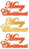 De Elementen van de Kaart van de Groet van Kerstmis vector illustratie
