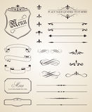 De Elementen van de kalligrafische en Paginadecoratie Royalty-vrije Stock Afbeeldingen