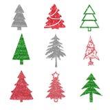 De elementen van de kerstboom Stock Afbeelding