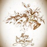 De elementen van de Kerstmishulst voor retro ontwerp Stock Afbeeldingen