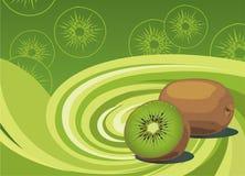 De elementen van de kiwi Royalty-vrije Stock Afbeeldingen