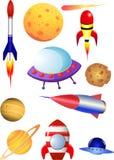 De Elementen van de kosmische ruimte Stock Afbeeldingen