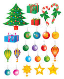De Elementen van de Kunst van Kerstmis Royalty-vrije Stock Afbeeldingen
