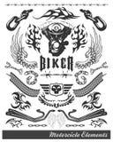 De elementen van de Motorfiets van de bijl Stock Afbeeldingen