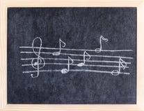 De elementen van de muziek Stock Foto's