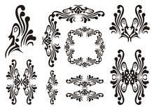 De elementen van de ontwerpvogel Stock Afbeeldingen