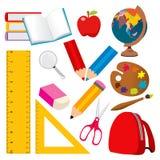 De Elementen van de school stock illustratie
