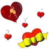 De elementen van de valentijnskaart stock illustratie