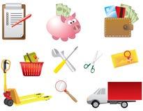 De Elementen van de Winkel van het Web Royalty-vrije Stock Afbeeldingen