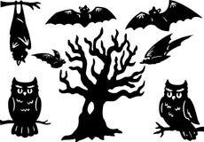 De Elementen van Halloween Stock Afbeelding