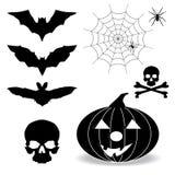 De elementen van Halloween royalty-vrije illustratie