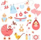 De Elementen van het babymeisje Royalty-vrije Stock Foto's
