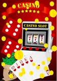 De elementen van het casino Stock Foto's