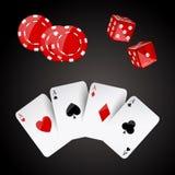 De elementen van het casino Stock Foto