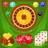 De elementen van het casino Stock Afbeelding