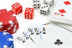 De Elementen van het casino Royalty-vrije Stock Afbeelding
