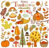 De Elementen van het dankzeggingsontwerp Stock Afbeelding