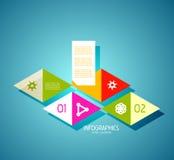 De elementen van het de bannerontwerp van Infographic, genummerd lijsten Stock Foto
