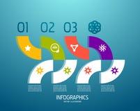 De elementen van het de bannerontwerp van Infographic, genummerd lijsten Royalty-vrije Stock Foto's