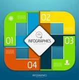 De elementen van het de bannerontwerp van Infographic, genummerd lijsten Royalty-vrije Stock Afbeeldingen