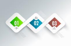 De elementen van het de bannerontwerp van Infographic, Mededeling Royalty-vrije Stock Foto's