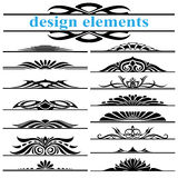 De elementen van het de decoratieontwerp van de pagina Royalty-vrije Illustratie