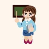 De elementen van het de leraarsthema van het persoonskarakter Royalty-vrije Stock Foto's