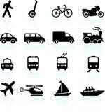 De elementen van het de pictogrammenontwerp van het vervoer Royalty-vrije Stock Afbeelding