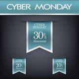 De elementen van het de verkoopweb van de Cybermaandag Royalty-vrije Stock Afbeeldingen