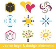 De elementen van het embleem en van het ontwerp Stock Foto's